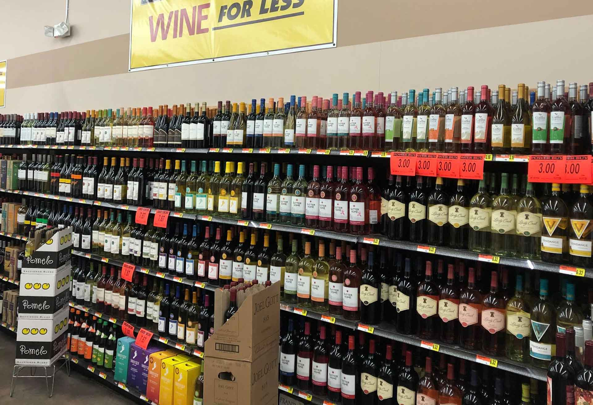 beer and wine department